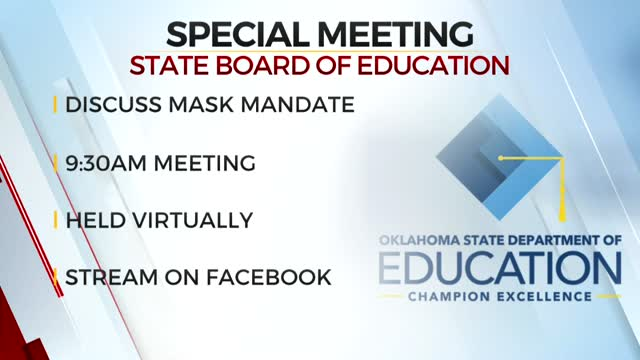 State Board Of Education To Meet, Discuss Mask Mandate Statewide