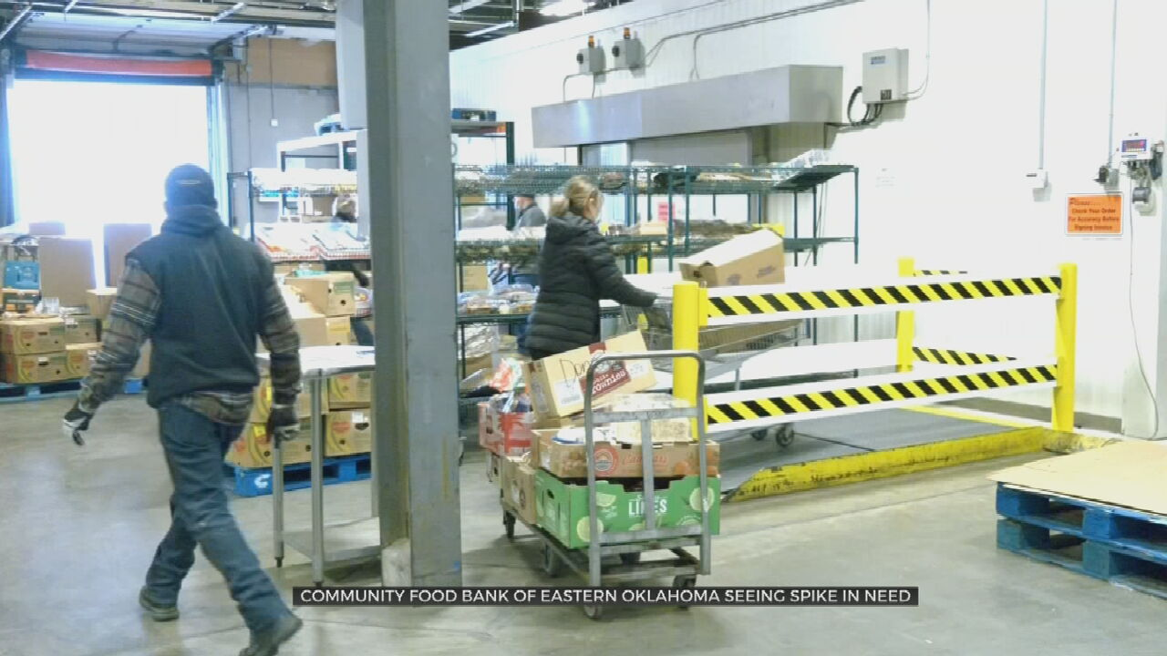 Community Food Bank Of Eastern Oklahoma Sees Higher Traffic Due To COVID-19 Pandemic