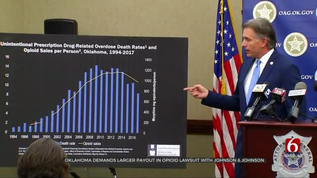 Oklahoma AG Demands Larger Payout In Opioid Lawsuit With Johnson & Johnson