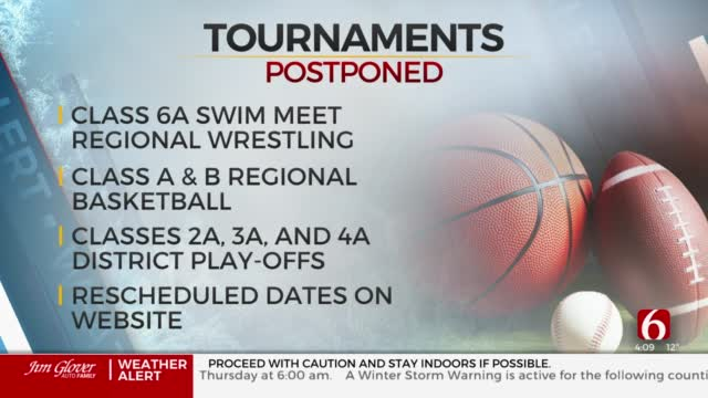 OSSAA Postpones Several State, Regional Tournaments Due To Winter Weather