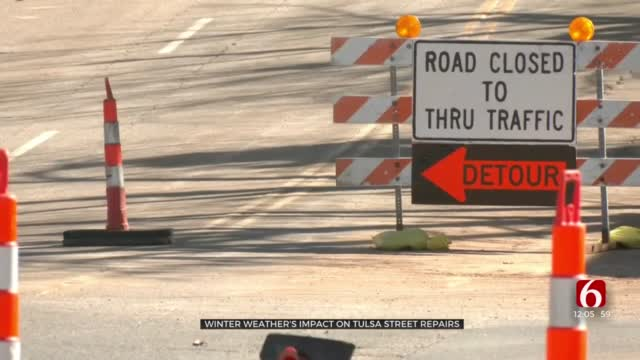 Tulsa Crews Resume Work On Street Projects After Recent Winter Weather Caused Delays