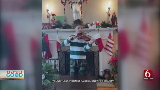 Amazing Oklahoman: Young Tulsa Violinist, Micah, Raises Money For Charity