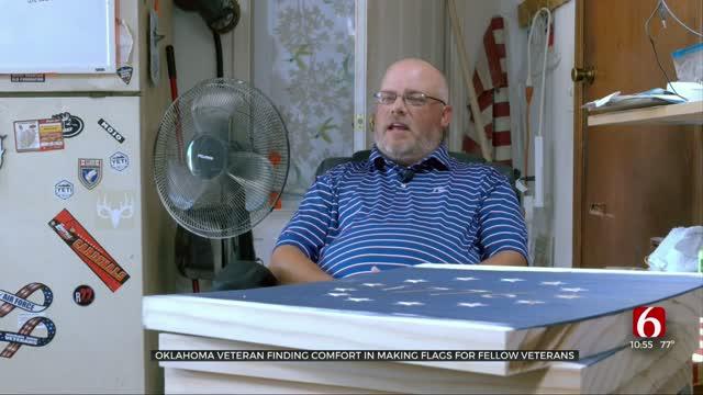 Oklahoma Veteran Finds Comfort In Making Flags For Fellow Veterans