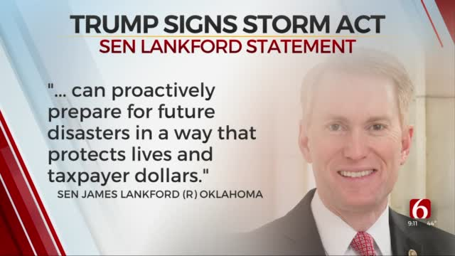 New Law Co-Sponsored By Lankford To Help Communities Reduce Impact Of Natural Disasters