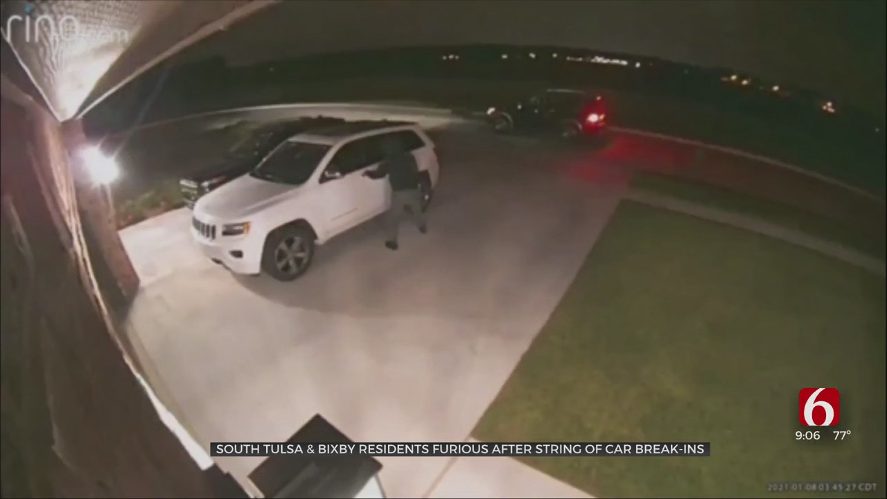Tulsa, Bixby Neighbors Frustrated After Security Camera Catches String Of Car Break-ins, Thefts