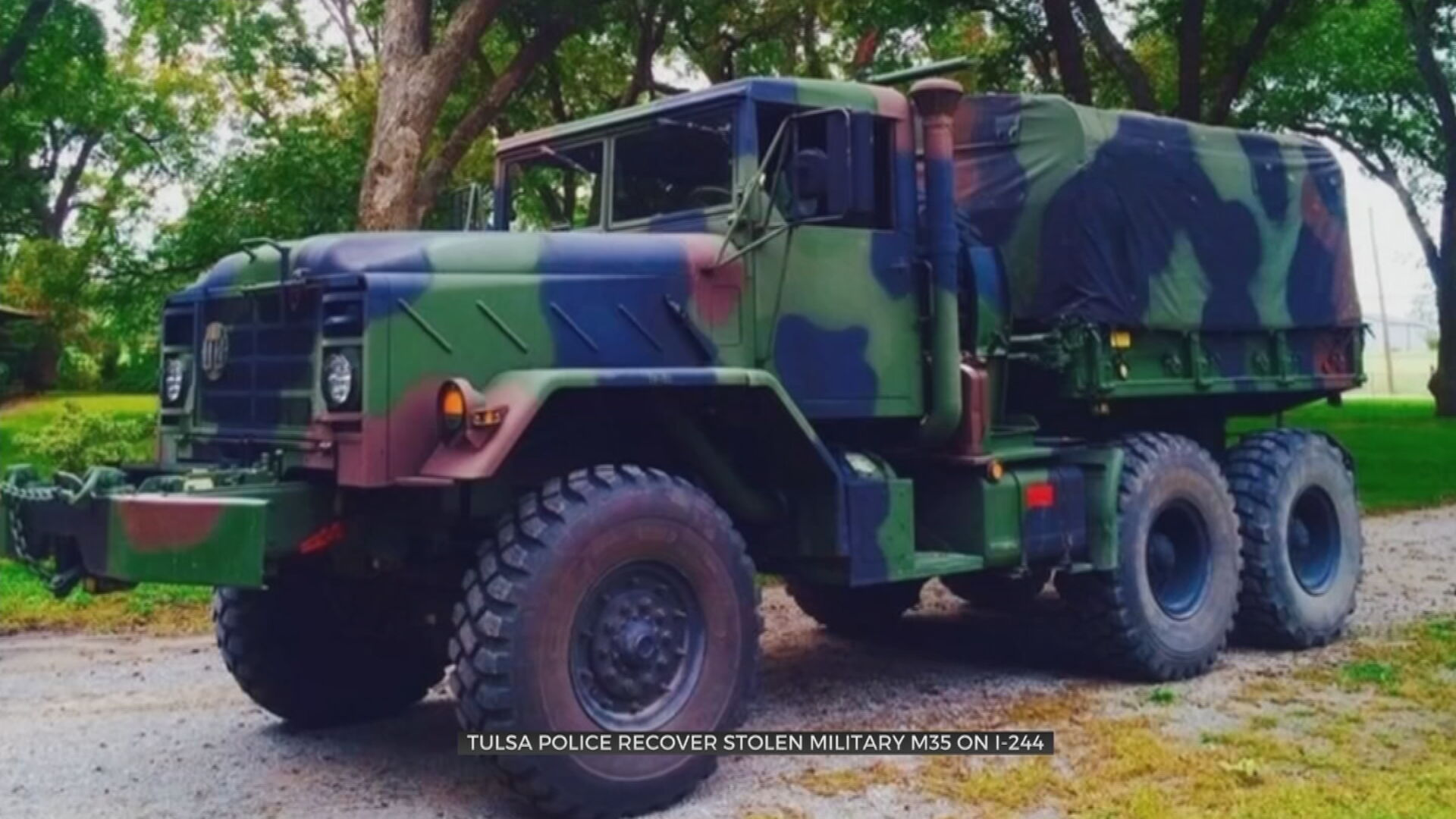 Stolen Military Cargo Truck Recovered In Tulsa; Suspect Arrested