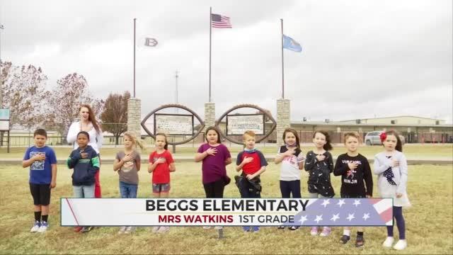 Daily Pledge: Mrs. Watkins 1st Grade Class