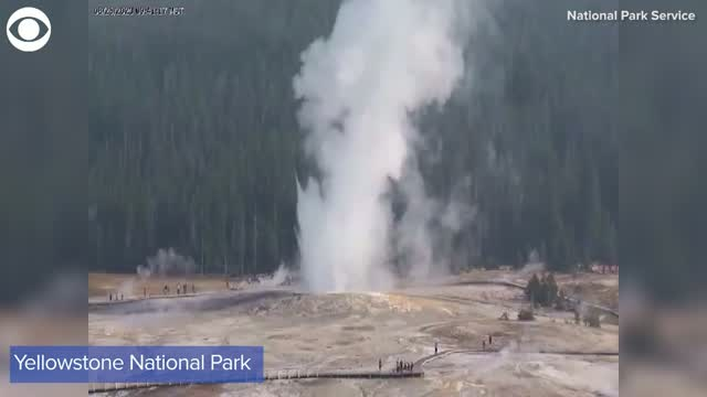 Watch: Giantess Geyser Erupts For 1st Time In More Than 6 Years