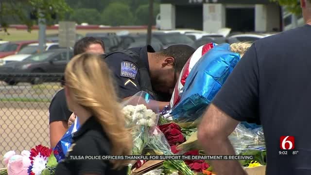 Tulsa Police Grateful, Says Support 'Is Overwhelmingly Emotional'