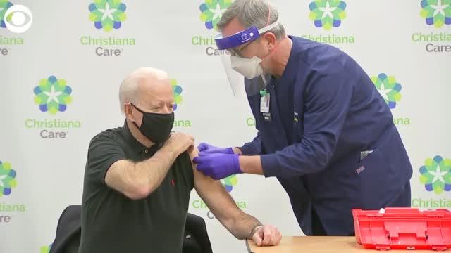 Joe Biden Gets Second Dose Of COVID Vaccine