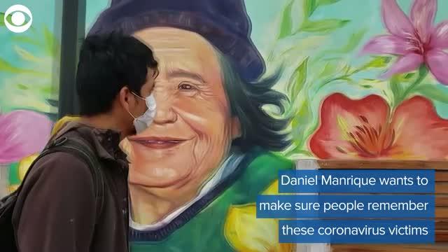WATCH: Artist Paints Coronavirus Victims' Portraits