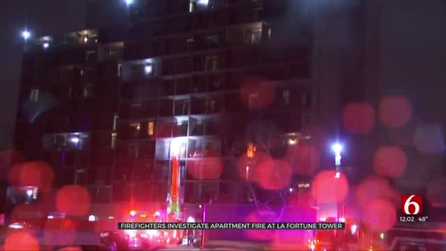 Tulsa Firefighters Respond To Fire At LaFortune Tower Apartments