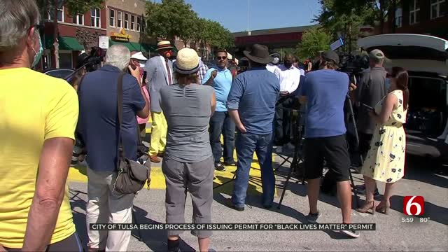 City Of Tulsa Starts Permit Process For 'Black Lives Matter' Mural