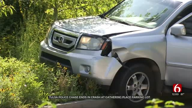 Woman Arrested After Police Pursuit Ends With Crash Near Gathering Place
