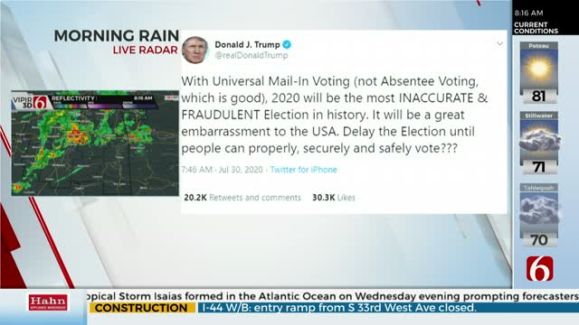 President Trump Floats Election 'Delay' Amid Claims Of Voting Fraud
