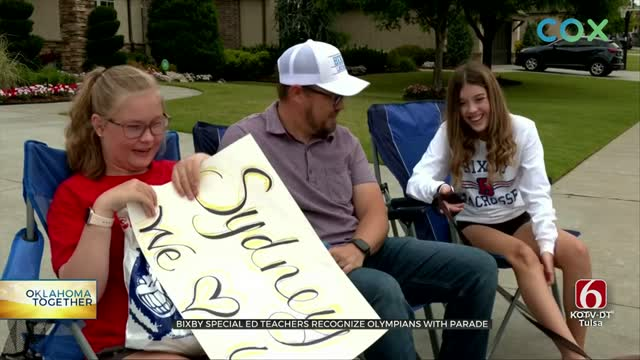 Bixby Special Education Teachers Do Drive-By Parade After Special Olympics Gets Canceled