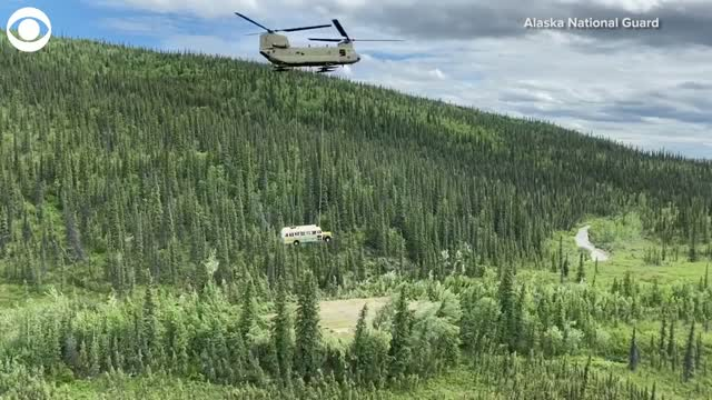 Watch: The Alaska National Guard Removes Abandoned 'Into The Wild' Bus