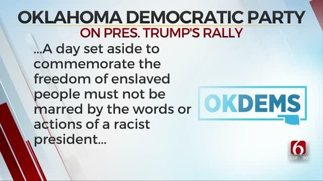 Oklahoma Democratic Party Denounces President's Rally, Announces Press Conference