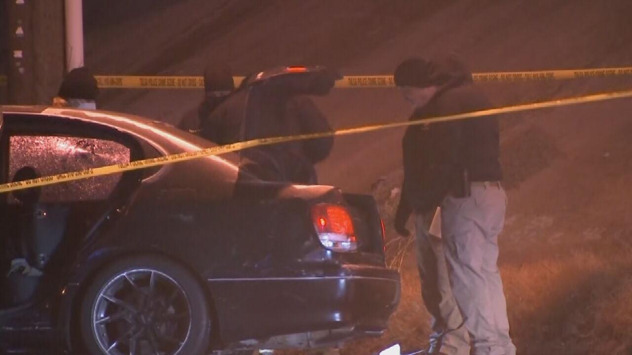 Tulsa Police: Man Found Dead With Gunshot Wound Following Crash