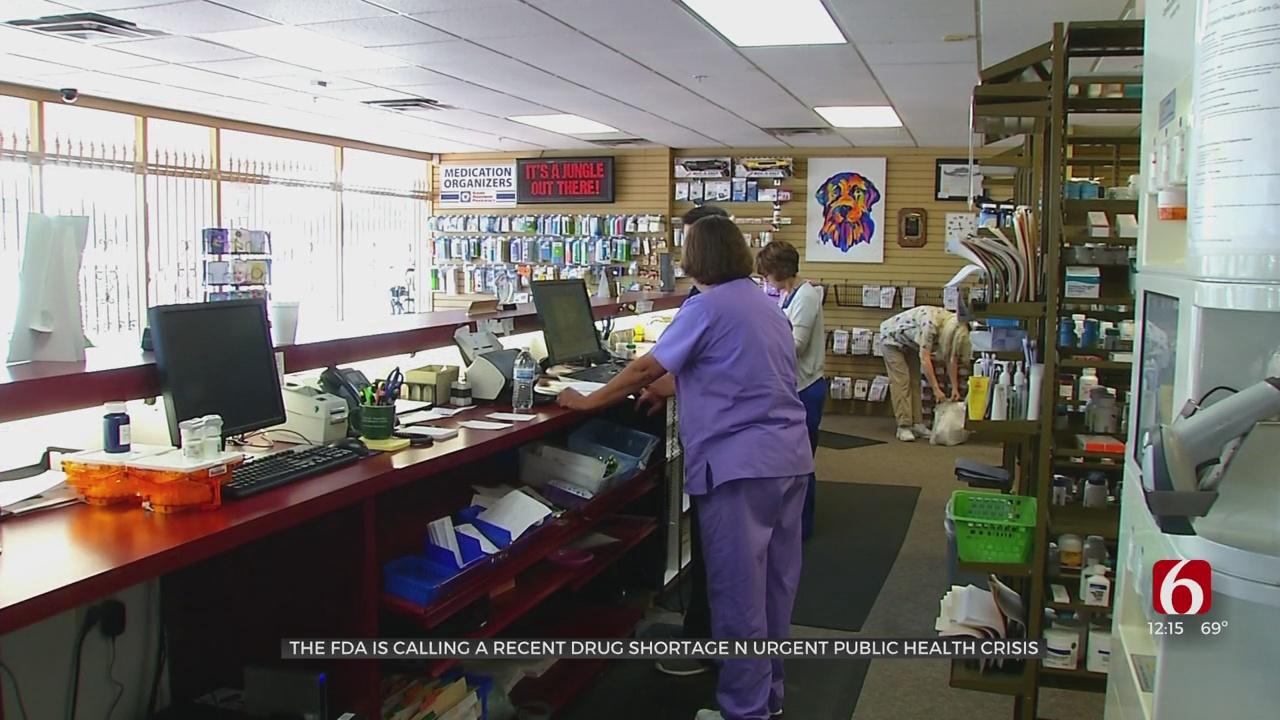 FDA Is Calling A Recent Drug Shortage An Urgent Public Health Crisis