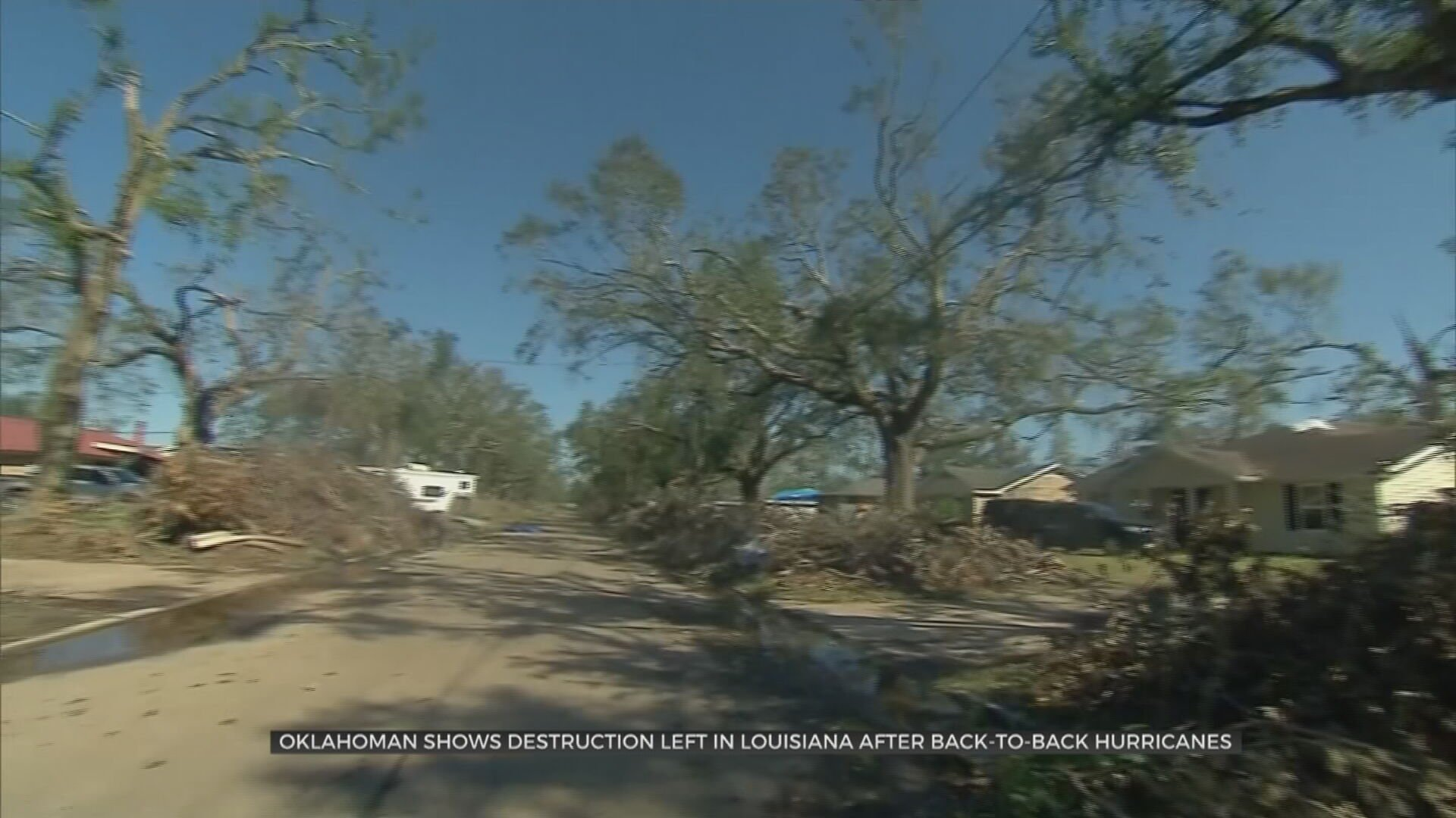 Oklahoman Shows Destruction Left In Louisiana After Back-To-Back Hurricanes