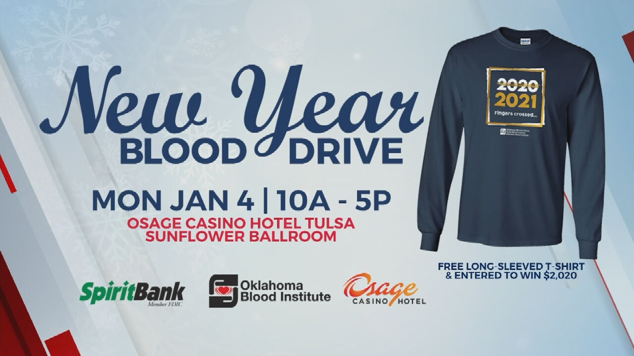 Oklahoma Blood Institute Hosts New Year's Blood Drive