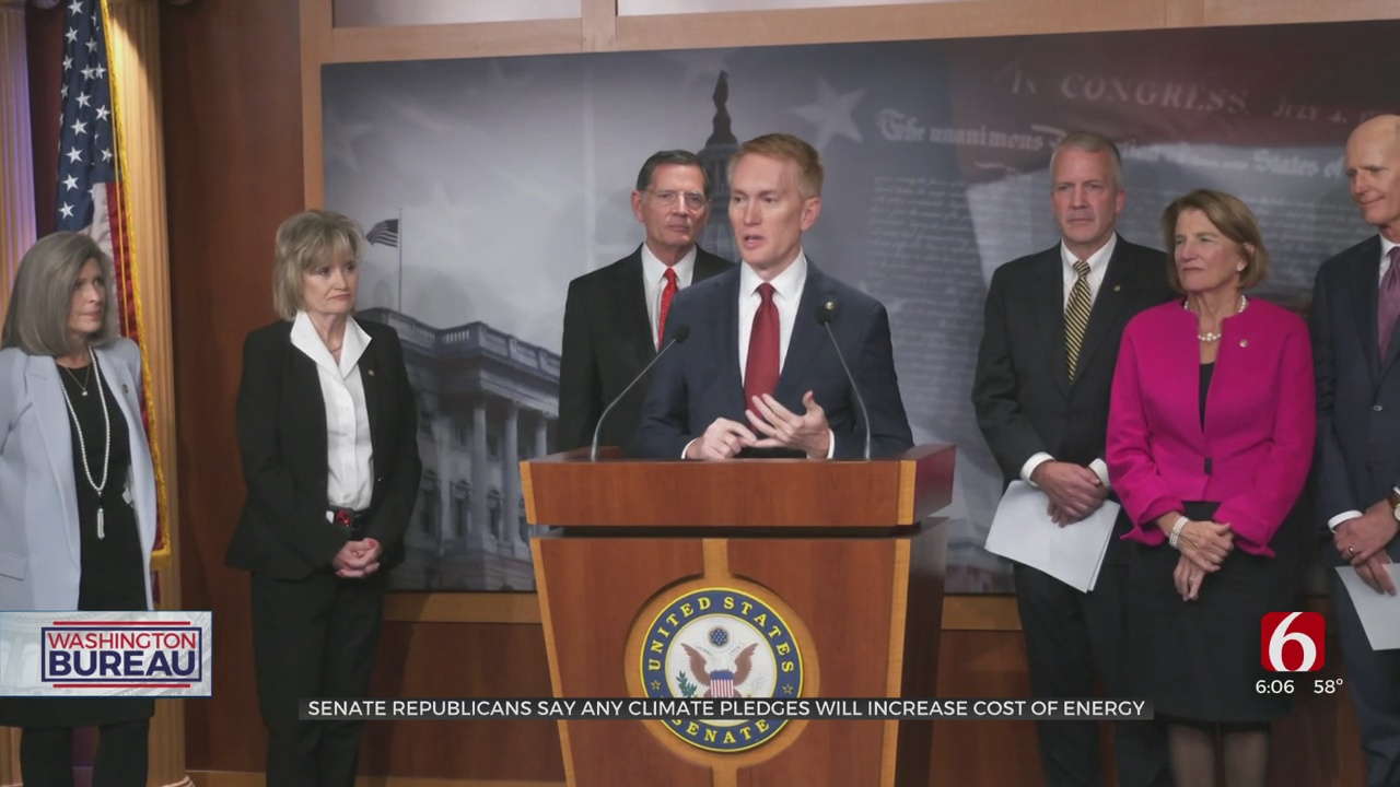 Lankford, Senate GOP Blasts Biden's Energy Policy Ahead Of 2021 Climate Conference