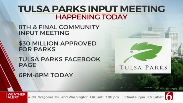 Tulsa Parks Holding Final Community Input Meeting