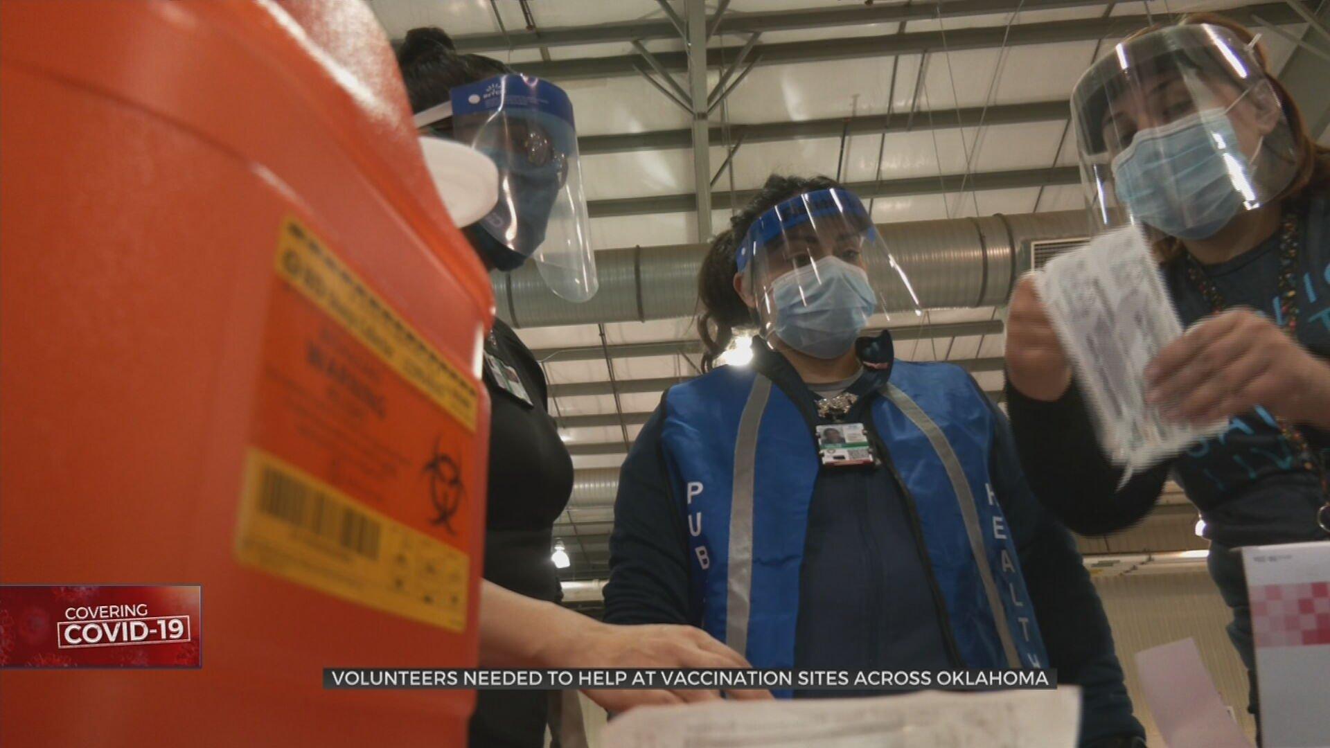 Volunteers Needed To Help COVID-19 Vaccination Sites Across Oklahoma