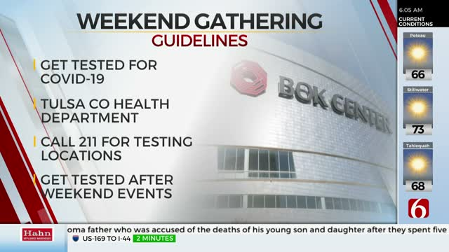 Oklahoma Department Of Health Encourages COVID-19 Testing For Anyone Attending A Large Gathering