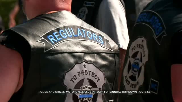 Police, Citizen Motorcycle Club In Town For Annual Trip Down Route 66