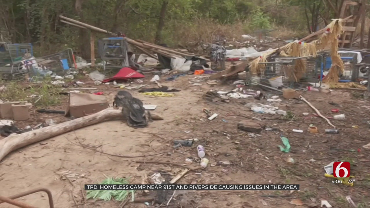 Police Working To Resolve Issues, Help Tulsans In Homeless Camps