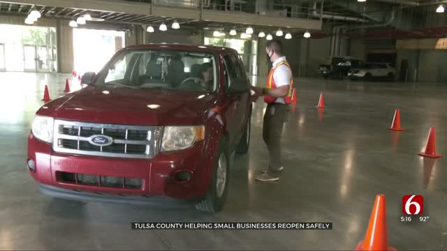 Tulsa County Helping Businesses Reopen Safely, Hands Out Special Kits