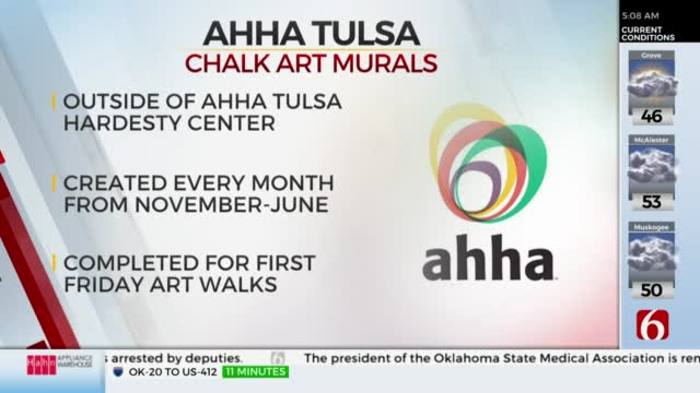 """Ahha Tulsa To Host """"Messages Of Hope And Reconciliation"""" Chalk Art Mural Series"""