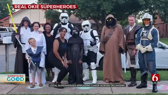 Local Superheroes Spread Cheer Across Oklahoma