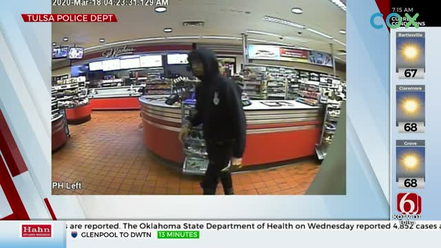 Tulsa Police Search For Suspect Accused Of Using Stolen Credit Card