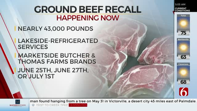 More Than 42,000 Lbs. Of Ground Beef Recalled Due To Possible E.Coli Contamination