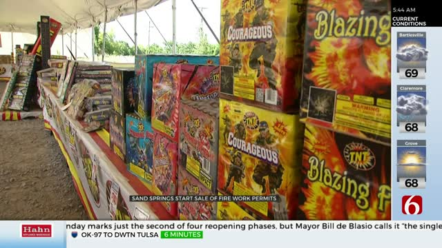 City Of Sand Springs Offering Fireworks Permits For July 4th