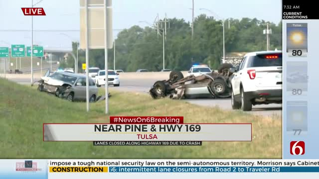 Traffic Slows After Wreck Near Pine, Highway 169