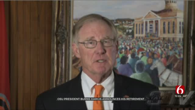 Gov. Stitt Congratulates OSU President Burns Hargis On Retirement