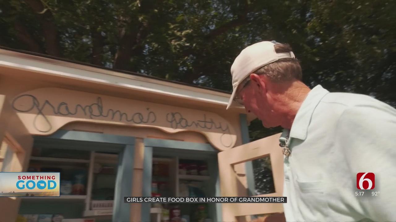 'Grandma's Pantry': Family Fulfills Broken Arrow Woman's Dream To Build Blessing Box