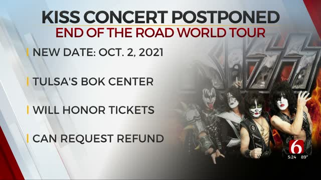 KISS Postpones Concert Scheduled For October At BOK