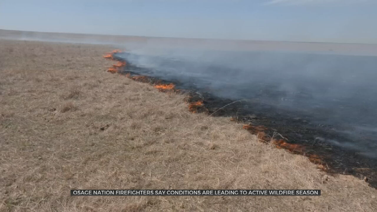 Osage Nation Firefighters Conduct Controlled Burns To Prevent Wildfires During Active Season