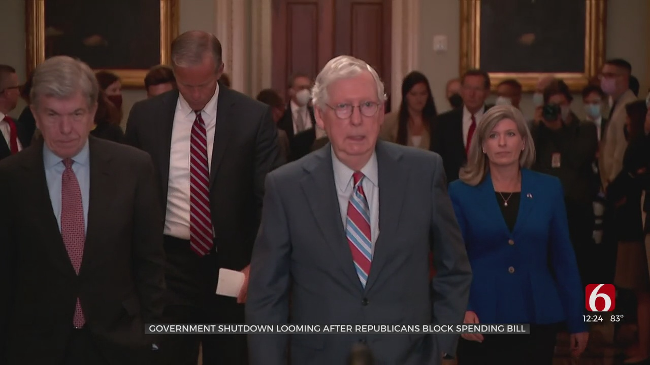 Government Shutdown Looming After Republicans Block Spending Bill