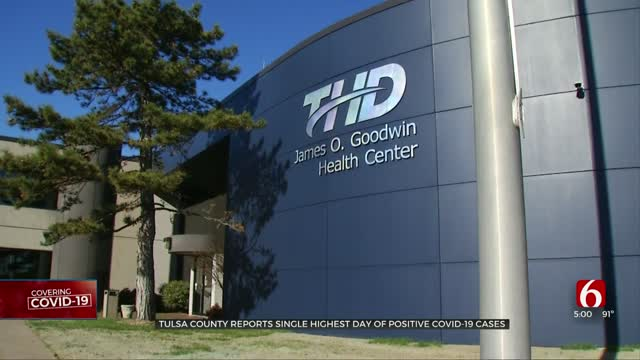 Tulsa Health Department Sees Highest Day Of Positive COVID-19 Cases