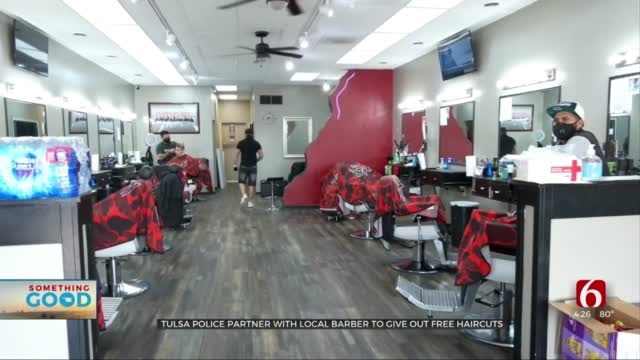 Tulsa Barber Shop Partnered With Tulsa Police, Gave Free Hair Cuts