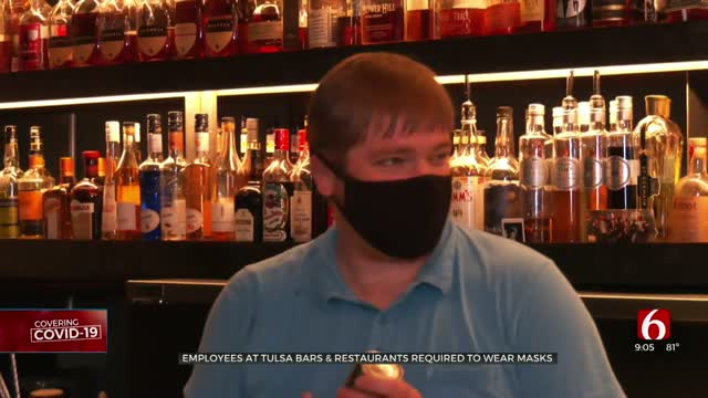 Tulsa Leaders Require Masks For Restaurant, Bar Employees To Slow Virus Spread
