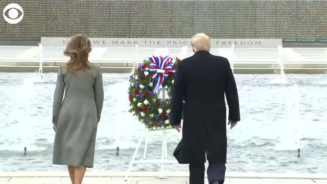Watch: President Trump and First Lady Melania visit the World War II Memorial
