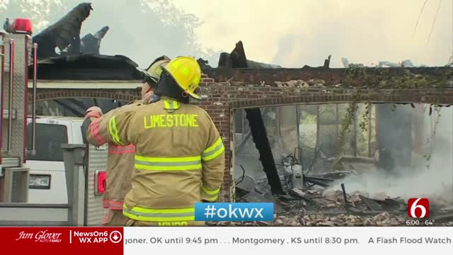 Lighting Strike Causes Rogers County House Fire, Firefighters Say