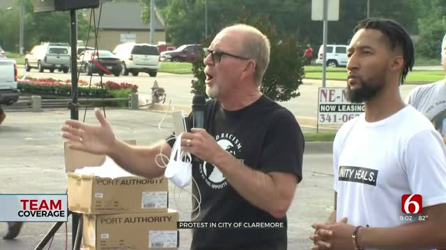 Leaders From Claremore Churches Hold Peaceful Protest